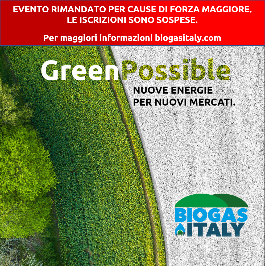 BIOGAS ITALY 2020 – Pochi Giorni All'evento