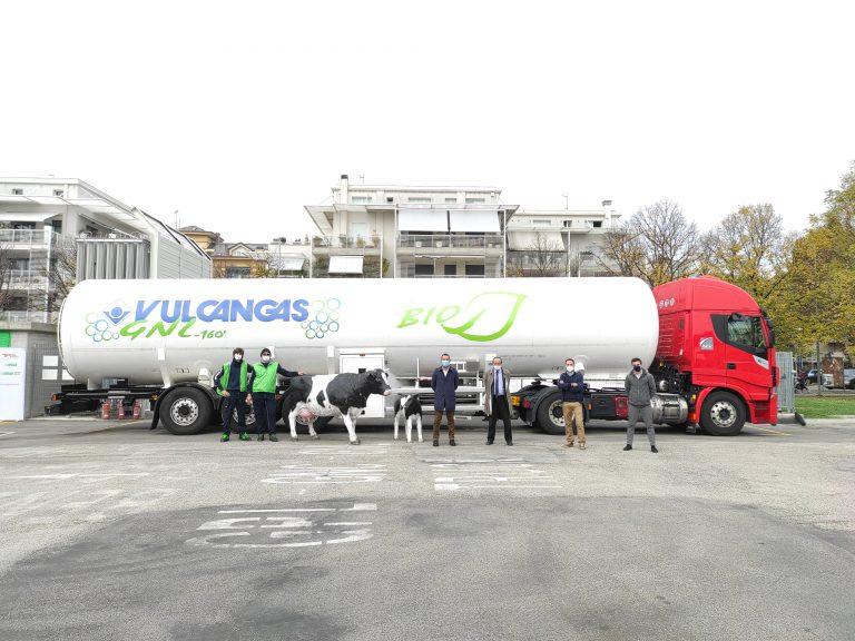 Completato il rifornimento di bio-GNL presso la stazione di Vulcangas a Rimini