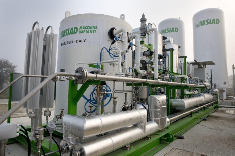 Sistema di liquefazione del biometano di Siad Macchine e Impianti