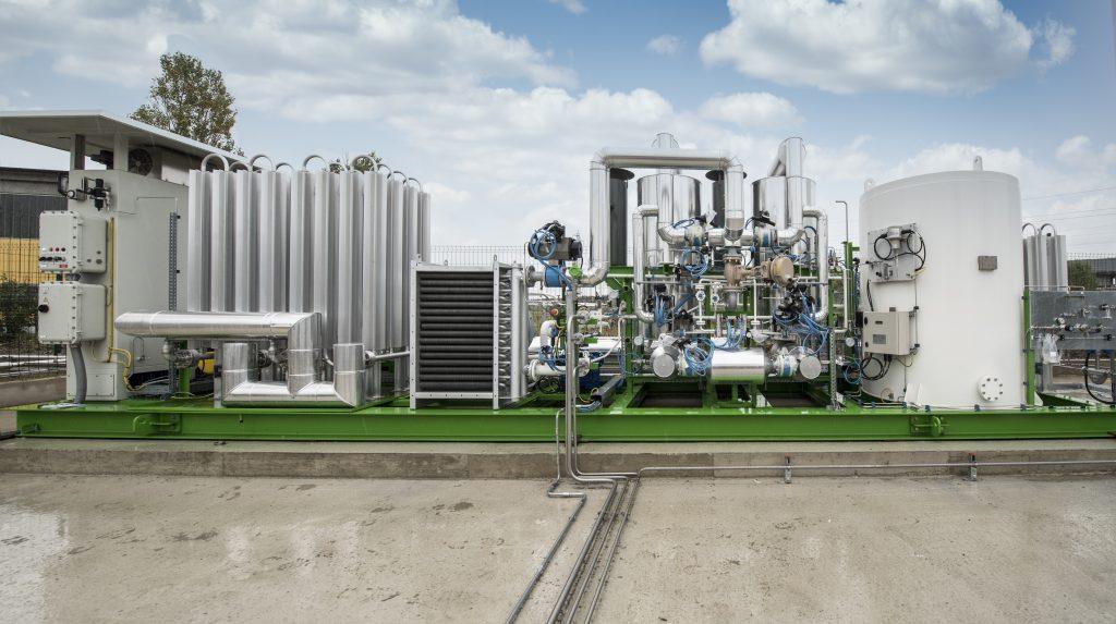 Sistema di liquefazione presso l'azienda di Lodi (di Siad Macchine Impianti)