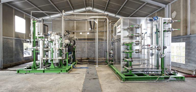 sistema di upgrading a membrane di Tecno Project Industriale